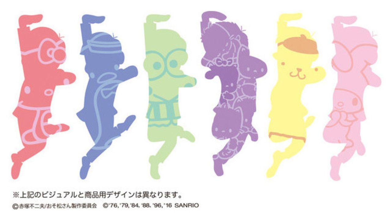 今度は『おそ松さん』とサンリオがコラボ!? イメージカラーと同じキャラクターと一緒!あれ?一松はモテモテ??