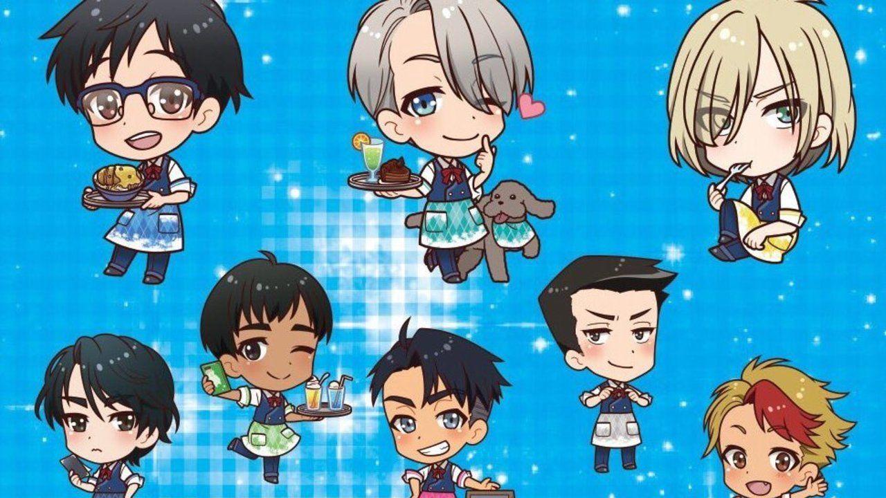 選手全員集合!『ユーリ!!! on ICE』×プリンセスカフェのコラボで可愛いSD絵柄解禁!